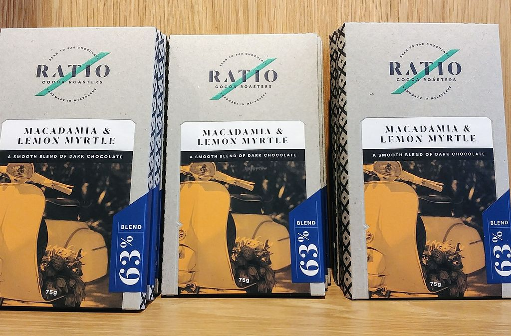 """Photo of Ratio Cocoa Roasters  by <a href=""""/members/profile/karlaess"""">karlaess</a> <br/>Macadamia & Lemon Myrtle: single origin dark chocolate <br/> February 11, 2018  - <a href='/contact/abuse/image/111776/358041'>Report</a>"""