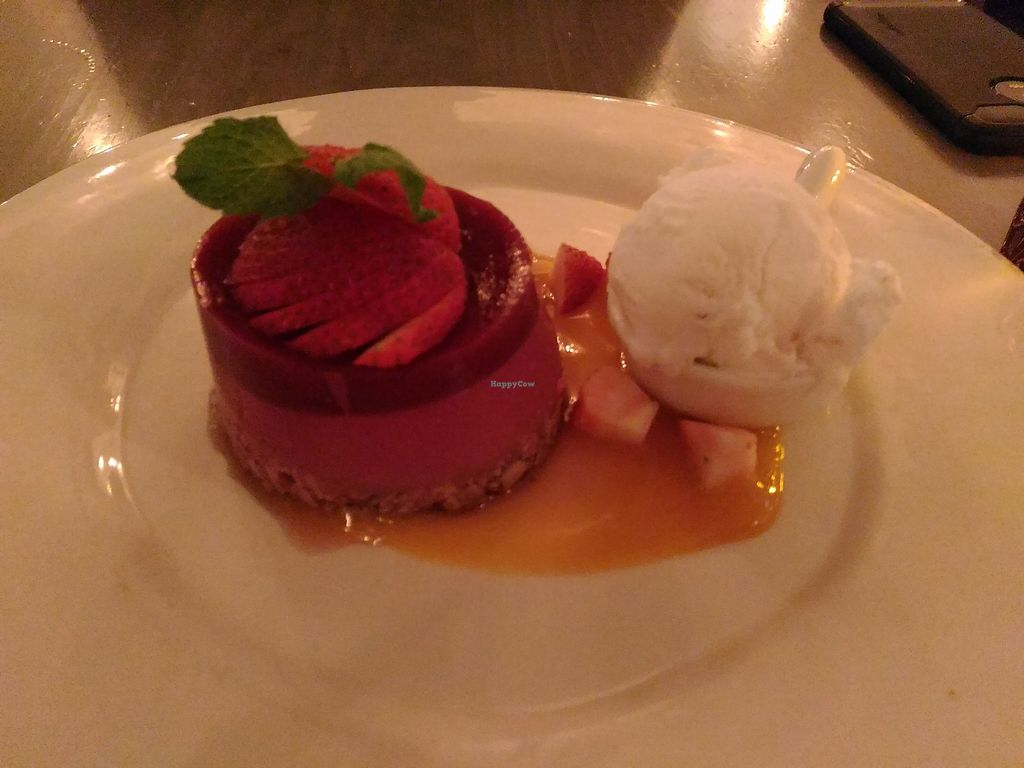 """Photo of Village Pantry  by <a href=""""/members/profile/Travellerslife"""">Travellerslife</a> <br/>Vegan avocado raspberry moose and coconut ice cream with mango sauce <br/> February 19, 2018  - <a href='/contact/abuse/image/111816/361106'>Report</a>"""