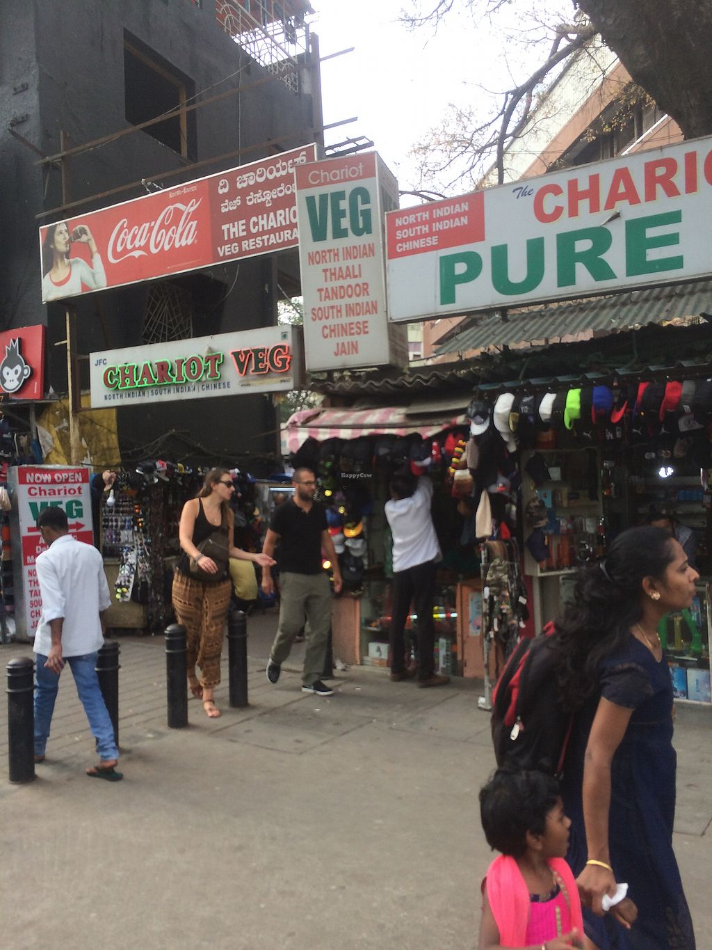"""Photo of The Chariot Pure Vegetarian  by <a href=""""/members/profile/Yo5h"""">Yo5h</a> <br/>Sign on street <br/> February 12, 2018  - <a href='/contact/abuse/image/111822/358300'>Report</a>"""