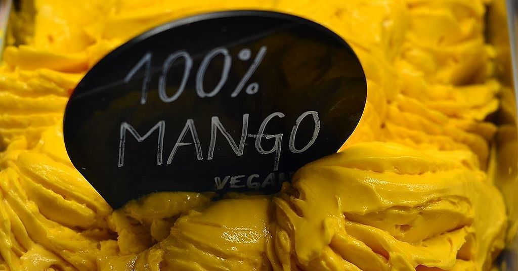 "Photo of Vigo Ice Cream  by <a href=""/members/profile/slovenianvegan"">slovenianvegan</a> <br/>Mango vegan ice cream.