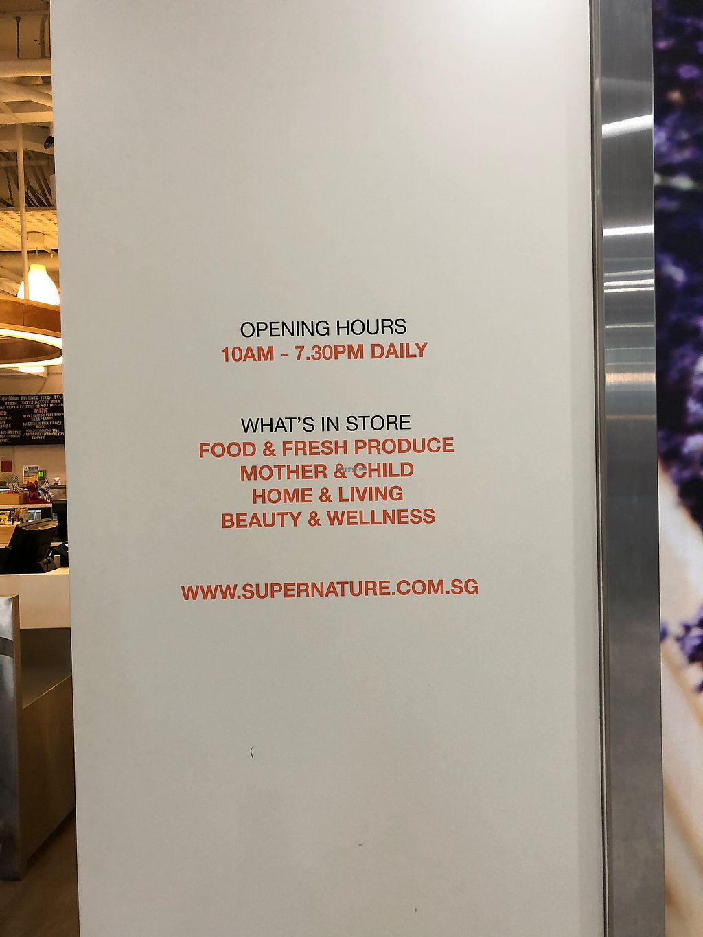 "Photo of SuperNature  by <a href=""/members/profile/Poised_with_Plants"">Poised_with_Plants</a> <br/>Opening hours <br/> March 29, 2018  - <a href='/contact/abuse/image/111859/377657'>Report</a>"