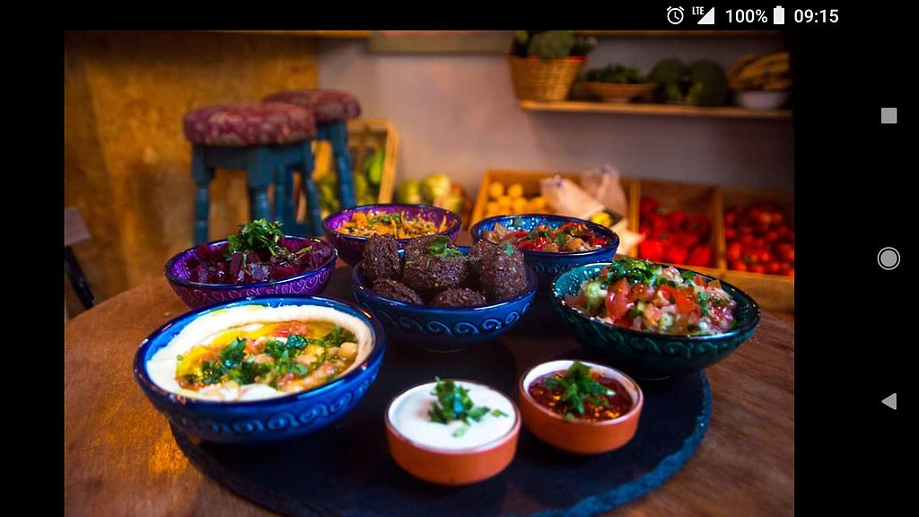 """Photo of Shouk  by <a href=""""/members/profile/Cnagyro"""">Cnagyro</a> <br/>Mezze plater. All vegetarian. May be adapted into vegan just asking for i!!! <br/> February 14, 2018  - <a href='/contact/abuse/image/111873/359161'>Report</a>"""