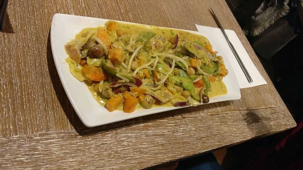 """Photo of N.i.L  by <a href=""""/members/profile/Pachamamma"""">Pachamamma</a> <br/>vegan sweet potato and chickpea curry.  <br/> February 12, 2018  - <a href='/contact/abuse/image/111879/358538'>Report</a>"""