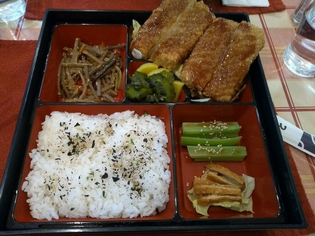"Photo of Zen Washoku  by <a href=""/members/profile/sparklelilz"">sparklelilz</a> <br/>Tofu Katsu Bento <br/> February 12, 2018  - <a href='/contact/abuse/image/111887/358541'>Report</a>"