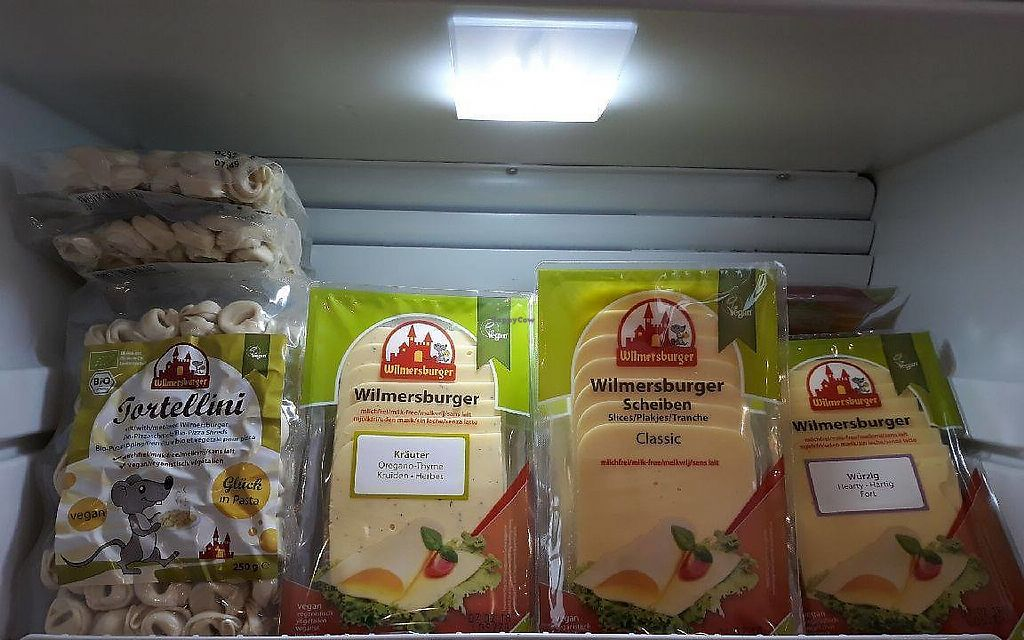 """Photo of DrobTinka  by <a href=""""/members/profile/slovenianvegan"""">slovenianvegan</a> <br/>Wilmersburger vegan cheese.  Photo by: drobTinka on Facebook <br/> February 12, 2018  - <a href='/contact/abuse/image/111892/358568'>Report</a>"""