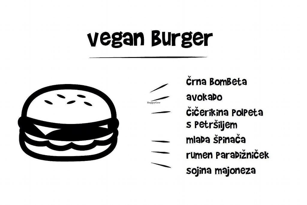 """Photo of Bar Cameral  by <a href=""""/members/profile/slovenianvegan"""">slovenianvegan</a> <br/>Vegan burger: black bombet, avocado, chickpea burger with parsley, young spinach, yellow tomato and soy mayonnaise.  Photo by: Bar Cameral on Facebook <br/> February 13, 2018  - <a href='/contact/abuse/image/111897/358757'>Report</a>"""