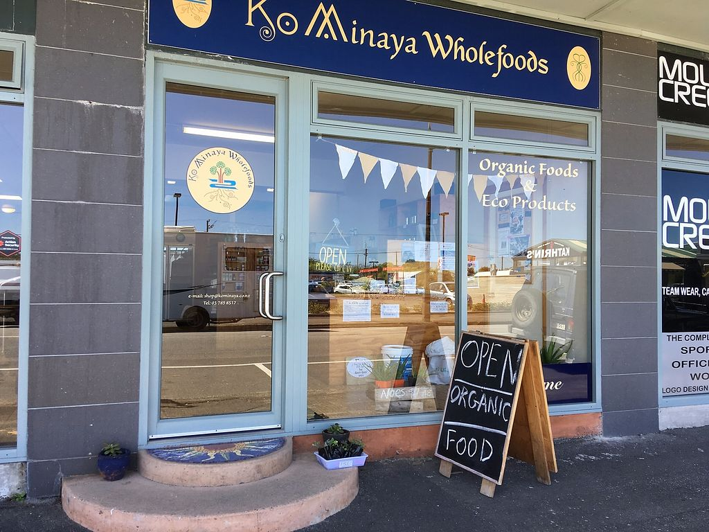 """Photo of Kominaya Organics  by <a href=""""/members/profile/Kominaya"""">Kominaya</a> <br/>Kominaya is a health food shop located in Westport (Kawatiri) on the West Coast of the South Island. We specialise in organic foods, wholefoods and bulkfoods. We support our local growers and artisan producers on the basis of organic, sustainable and ethical practices. Kominaya healthfoods is locally owned and operated by partners Richard and Anna, who are passionate about food and health.  <br/> February 13, 2018  - <a href='/contact/abuse/image/111906/358662'>Report</a>"""