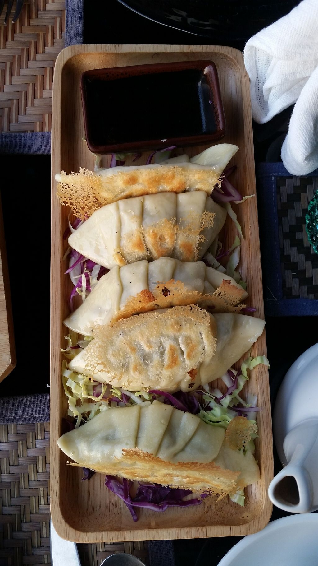 """Photo of Ock Pop Tok Living Craft Centre  by <a href=""""/members/profile/Nimeda"""">Nimeda</a> <br/>Vegan steamed dumplings with mushroom filling <br/> February 14, 2018  - <a href='/contact/abuse/image/111949/359051'>Report</a>"""