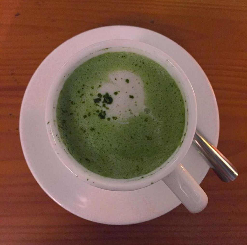 """Photo of Green Cottage  by <a href=""""/members/profile/Emmagurnham"""">Emmagurnham</a> <br/>Soy matcha latte ???  <br/> November 2, 2016  - <a href='/contact/abuse/image/11196/186087'>Report</a>"""