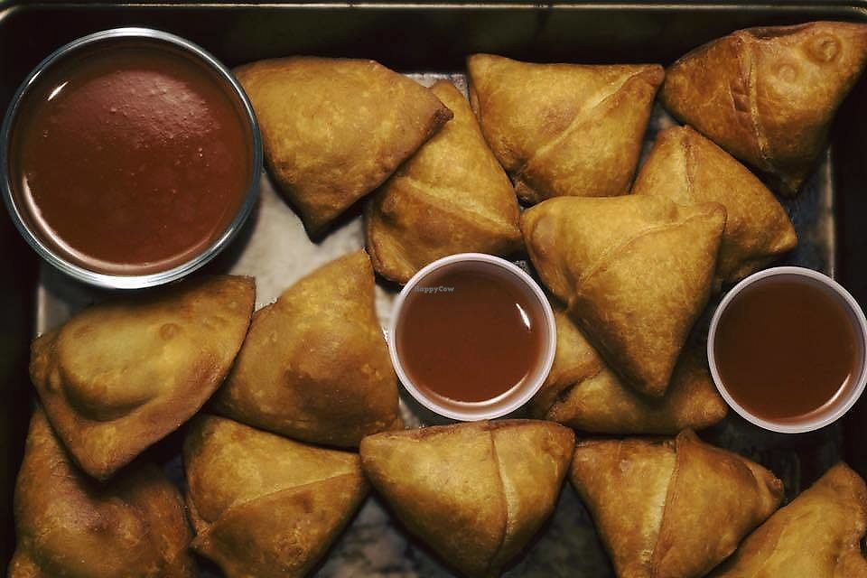 """Photo of Bridges Nepali Cuisine  by <a href=""""/members/profile/bridgesnepalicuisine"""">bridgesnepalicuisine</a> <br/>Samosas! Stuffings available are: Potatoes, peas, and carrots; Chicken and Rice; or Potatoes and Cheese <br/> February 16, 2018  - <a href='/contact/abuse/image/111979/360138'>Report</a>"""