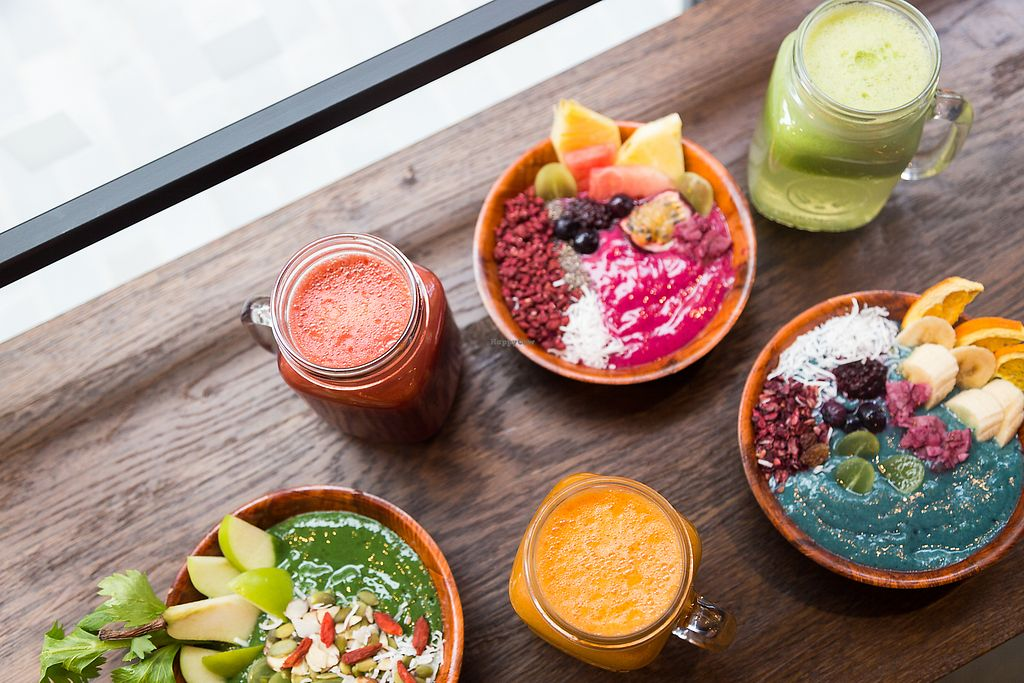 """Photo of Gre3n Superfood & Juice Bar - Little High  by <a href=""""/members/profile/CGreen"""">CGreen</a> <br/>Green Bowls and Juices <br/> March 21, 2018  - <a href='/contact/abuse/image/112027/373777'>Report</a>"""