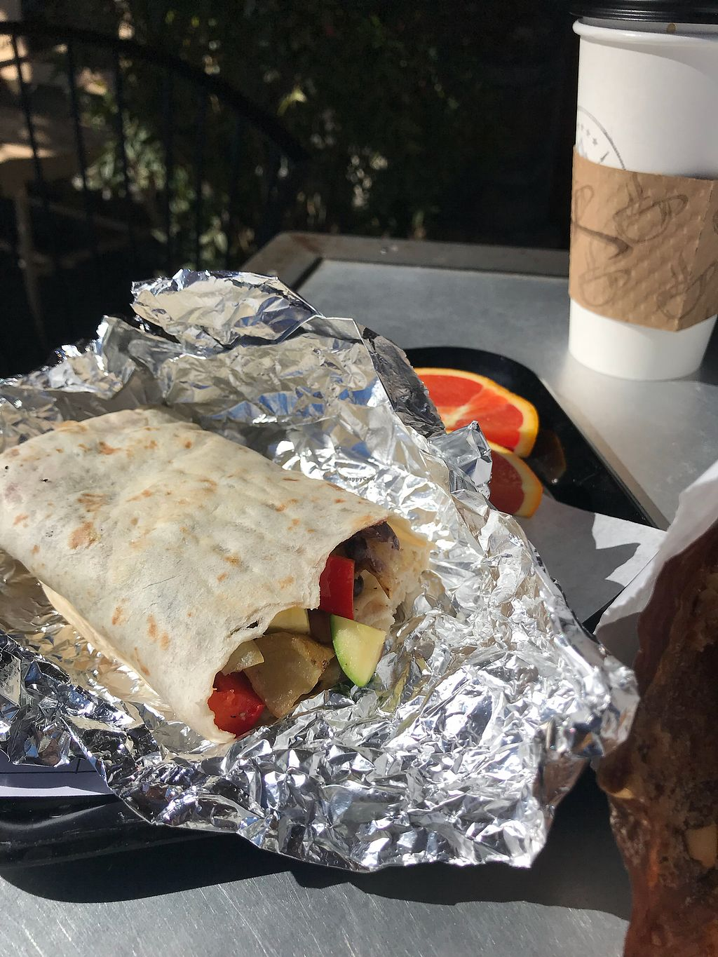 "Photo of Looney Bean  by <a href=""/members/profile/Cstar"">Cstar</a> <br/>Vegan Breakfast Burrito (requested no eggs added potatoes) <br/> March 5, 2018  - <a href='/contact/abuse/image/112085/367178'>Report</a>"