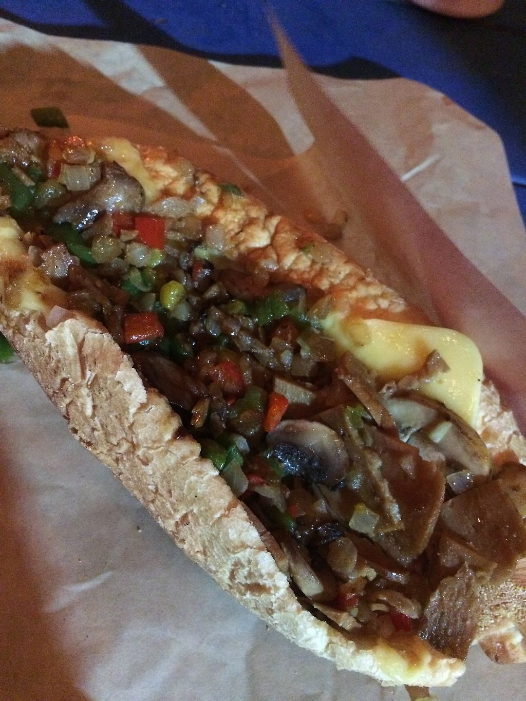 """Photo of 1776 Cheesesteak Co. - Food Truck  by <a href=""""/members/profile/AlishaM"""">AlishaM</a> <br/>Vegan cheesesteak <br/> April 12, 2018  - <a href='/contact/abuse/image/112106/384571'>Report</a>"""