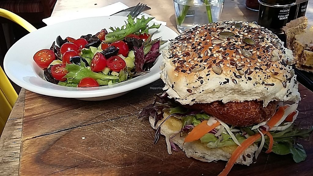 "Photo of Grass Roof  by <a href=""/members/profile/Knargle"">Knargle</a> <br/>Veganized veggie burger <br/> February 16, 2018  - <a href='/contact/abuse/image/112156/359859'>Report</a>"