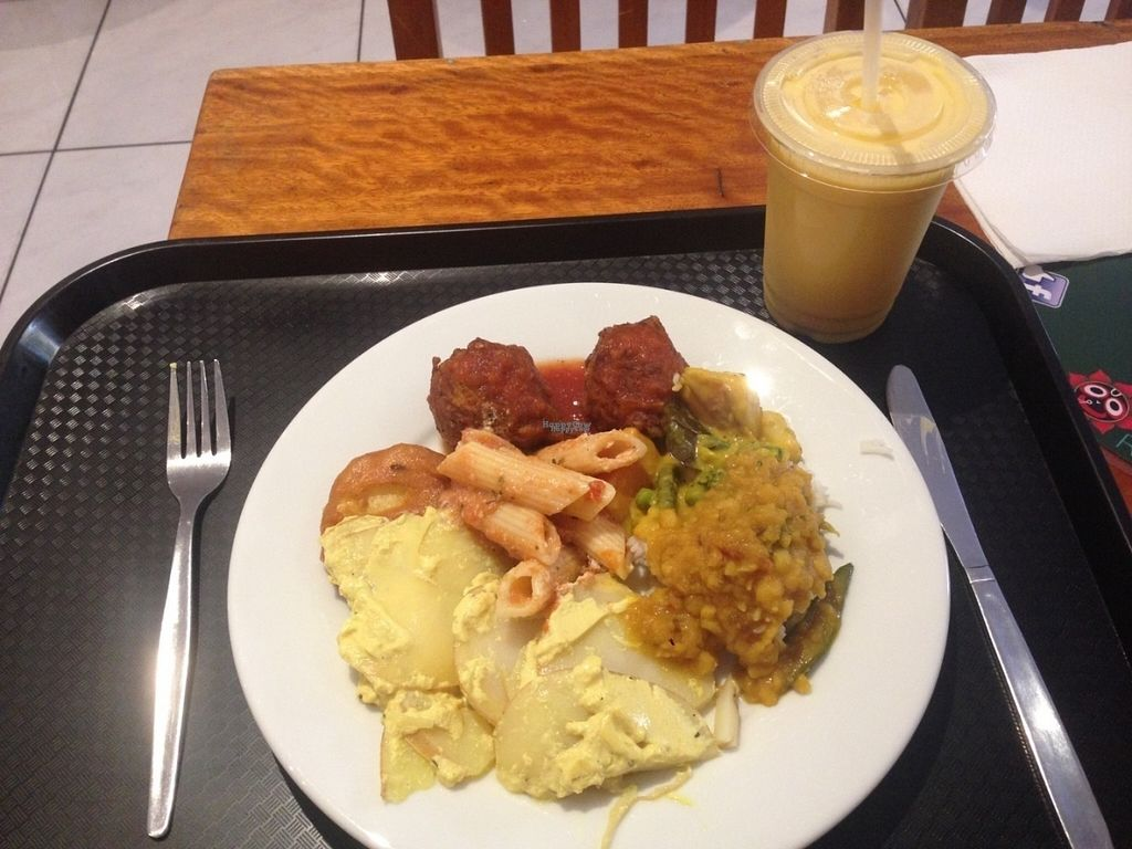 "Photo of Govindas - Surfers Paradise  by <a href=""/members/profile/NirvanaRoseWilliams"">NirvanaRoseWilliams</a> <br/>Potato bake, kofta, curry and pasta. Mango lassi extra. All vegan? <br/> August 27, 2016  - <a href='/contact/abuse/image/11216/171658'>Report</a>"