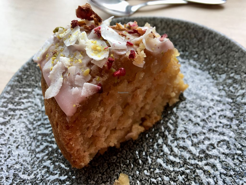 """Photo of The Hepworth Cafe  by <a href=""""/members/profile/JessicaRuthGibson"""">JessicaRuthGibson</a> <br/>Pistachio and Rose Bundt Cake <br/> April 23, 2018  - <a href='/contact/abuse/image/112175/390143'>Report</a>"""