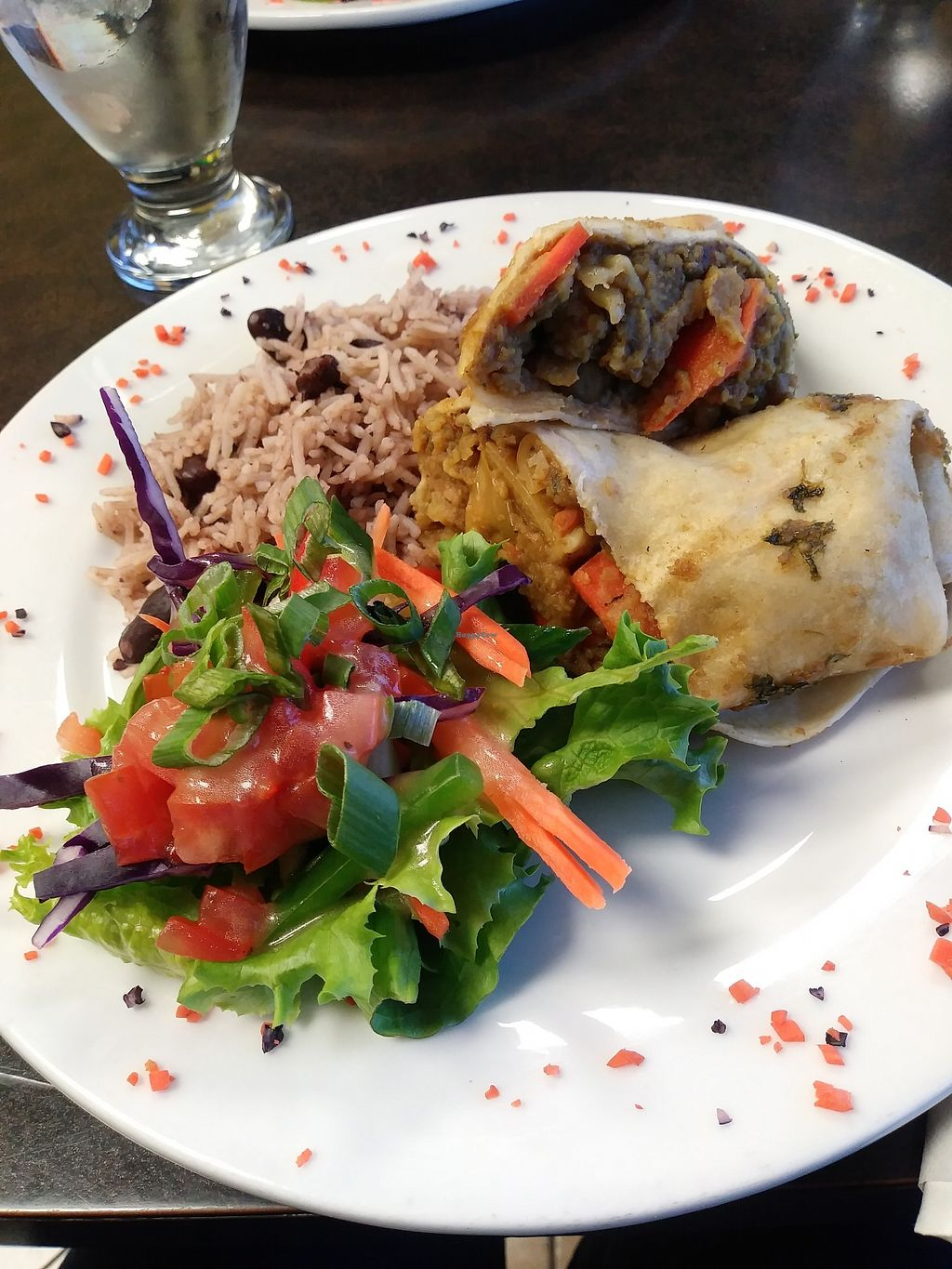 """Photo of Jamaican Kitchen  by <a href=""""/members/profile/LolaMeow"""">LolaMeow</a> <br/>Vegetarian Roti <br/> February 17, 2018  - <a href='/contact/abuse/image/112178/360190'>Report</a>"""