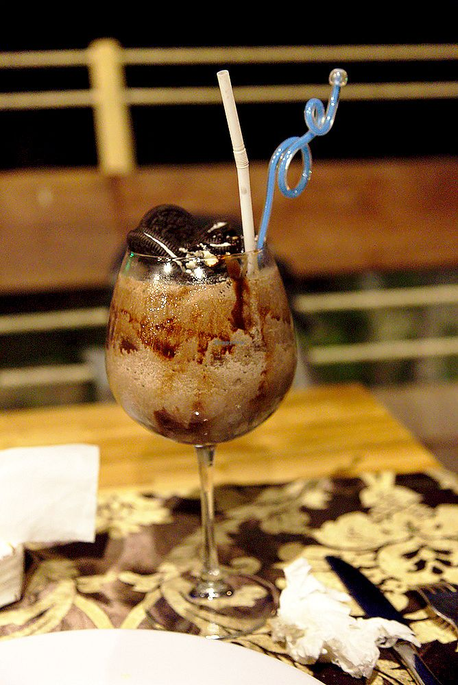 """Photo of The Fishing Hook   by <a href=""""/members/profile/Bintje"""">Bintje</a> <br/>Vegan Oreo Smoothie <br/> May 8, 2018  - <a href='/contact/abuse/image/112216/397003'>Report</a>"""
