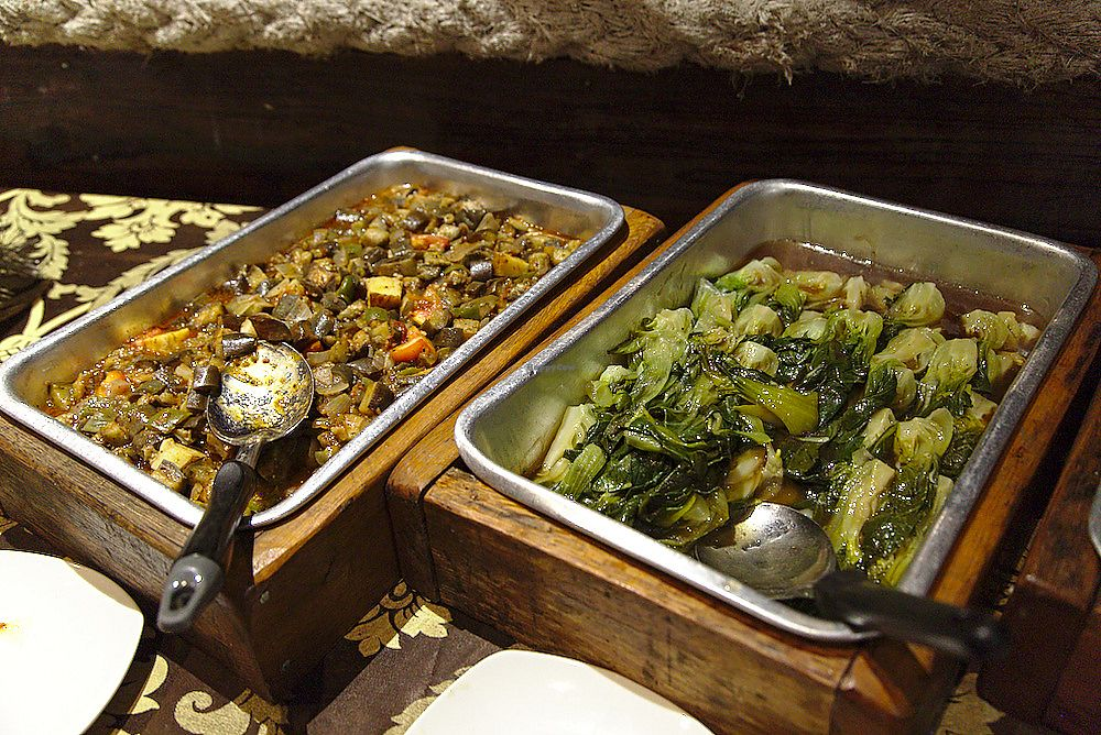 """Photo of The Fishing Hook   by <a href=""""/members/profile/Bintje"""">Bintje</a> <br/>Vegetables in the vegan buffet <br/> May 8, 2018  - <a href='/contact/abuse/image/112216/397010'>Report</a>"""