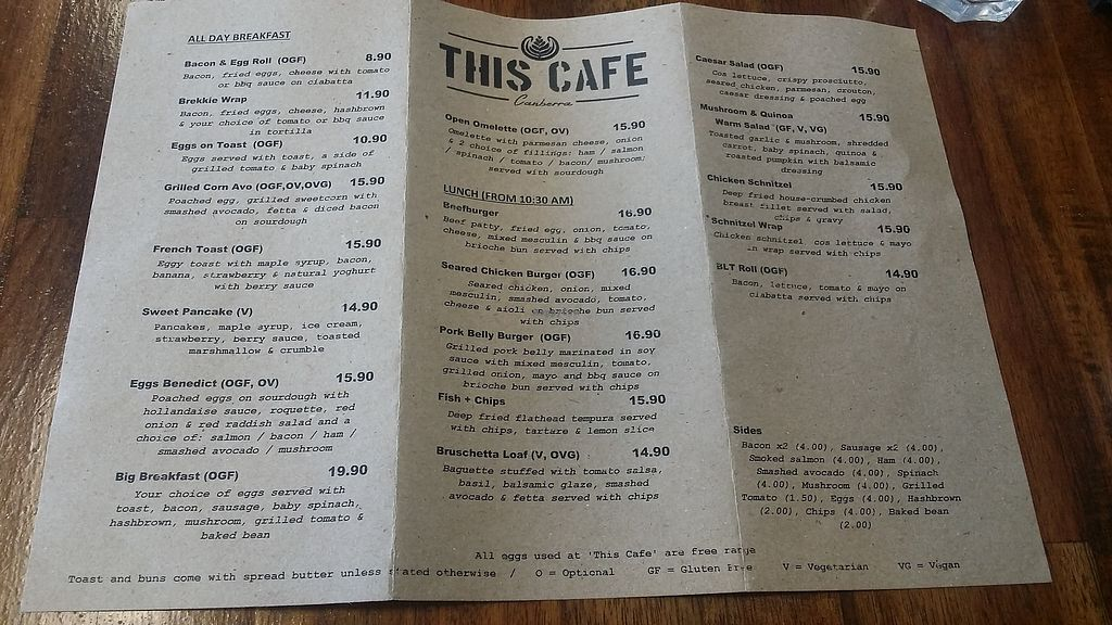 """Photo of This Cafe  by <a href=""""/members/profile/JenMeisterActs"""">JenMeisterActs</a> <br/>Menu <br/> March 8, 2018  - <a href='/contact/abuse/image/112288/368002'>Report</a>"""