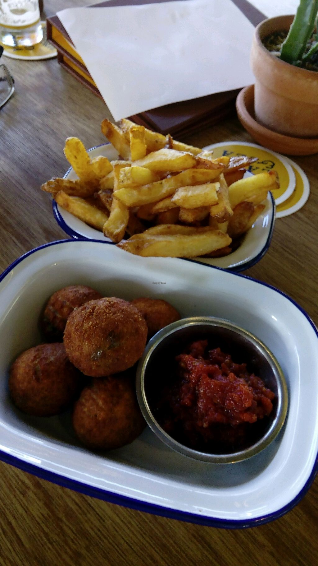 """Photo of Land & Sea Brewery  by <a href=""""/members/profile/heather6thsense"""">heather6thsense</a> <br/>hot chips, tomato relish and arancini balls <br/> March 23, 2018  - <a href='/contact/abuse/image/112297/374694'>Report</a>"""
