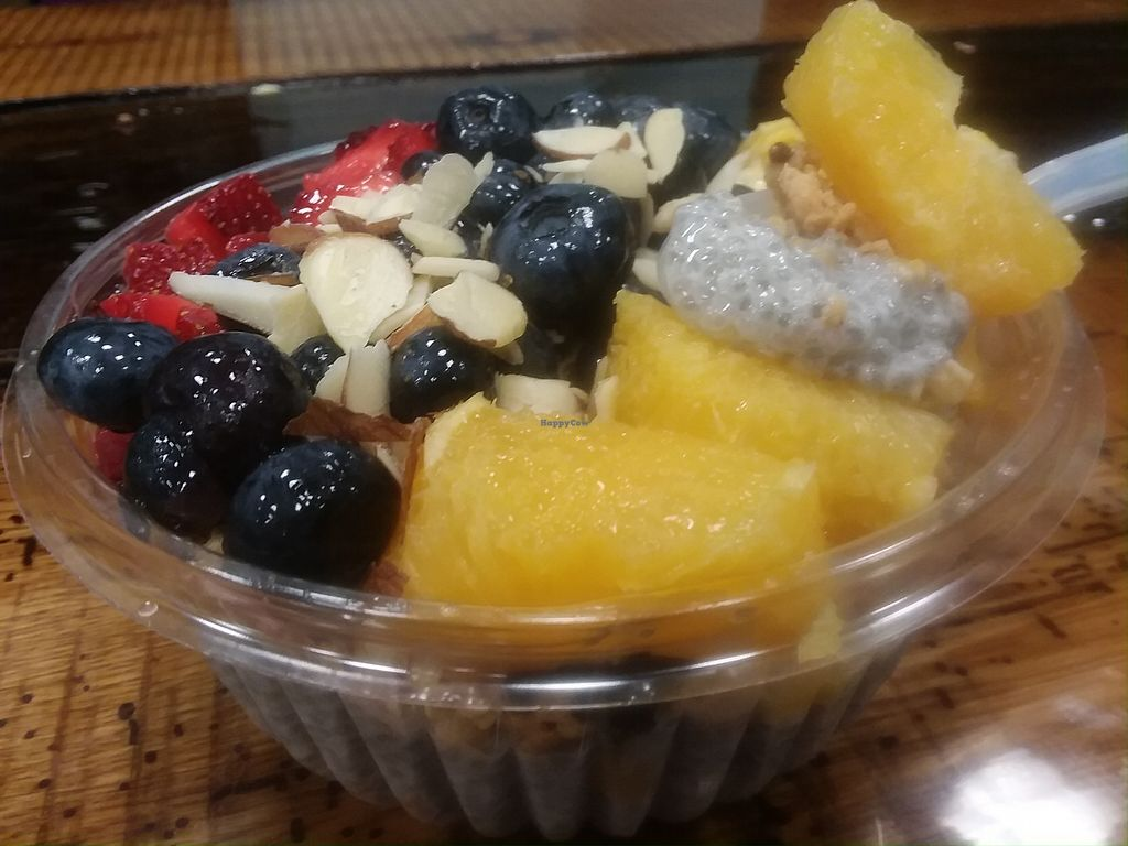 """Photo of Soul Bowls  by <a href=""""/members/profile/mshelene"""">mshelene</a> <br/>Chia Citrus bowl (Topped with strawberries, blueberries, granola and oranges. I said no honey) <br/> March 1, 2018  - <a href='/contact/abuse/image/112307/365490'>Report</a>"""