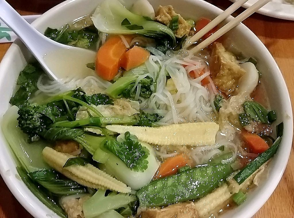 """Photo of Pho Far East  by <a href=""""/members/profile/Danielle_in_NC"""">Danielle_in_NC</a> <br/>Vegetarian Pho <br/> February 17, 2018  - <a href='/contact/abuse/image/112335/360505'>Report</a>"""