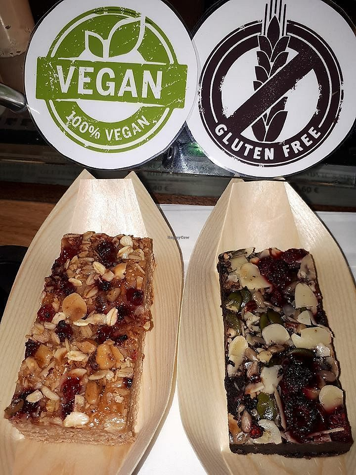 "Photo of R&B Roastery & Bakery  by <a href=""/members/profile/slovenianvegan"">slovenianvegan</a> <br/>Vegan banana & currant bar (left).