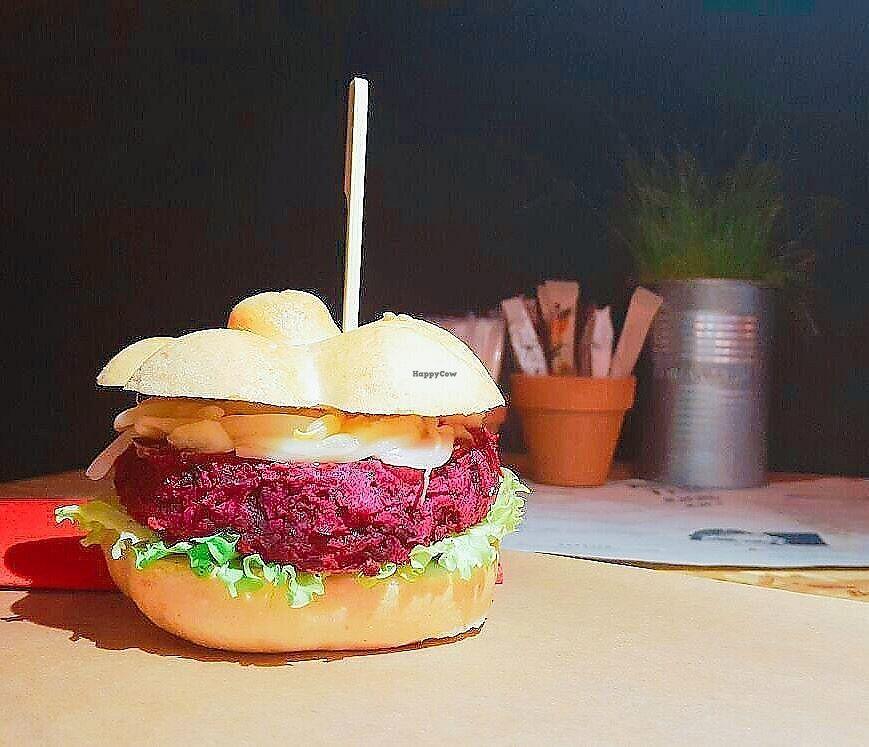 "Photo of Urban Piqniq  by <a href=""/members/profile/slovenianvegan"">slovenianvegan</a> <br/>Vegan burger.  Photo by: Urban Piqniq on Facebook <br/> February 18, 2018  - <a href='/contact/abuse/image/112385/360836'>Report</a>"