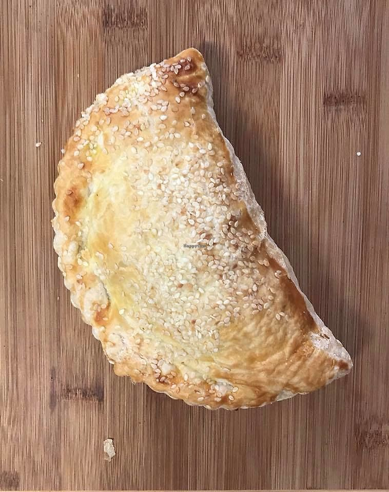 """Photo of Huon Valley Bakery Cafe  by <a href=""""/members/profile/karlaess"""">karlaess</a> <br/>Vegan vegetable pastie <br/> March 24, 2018  - <a href='/contact/abuse/image/112413/375567'>Report</a>"""