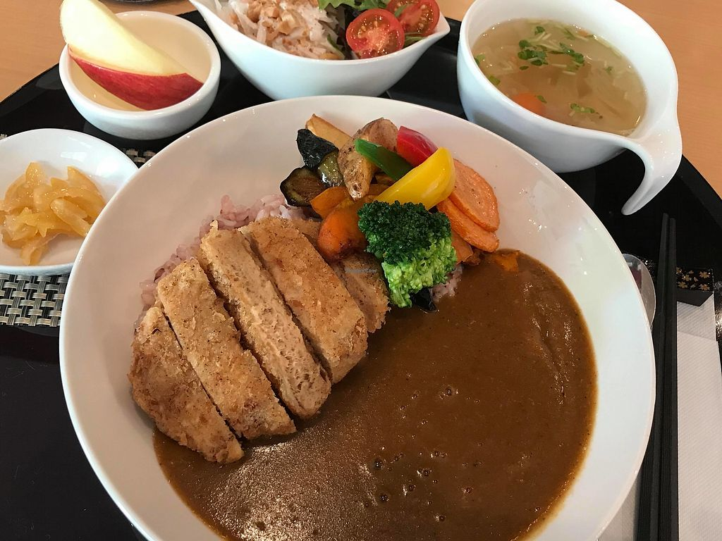 "Photo of SaiShokuKenBi  by <a href=""/members/profile/Tomomi13"">Tomomi13</a> <br/>Soy cutlet curry lunch set (1,300 yen, one drink included, contain egg, no dairy)  <br/> March 16, 2018  - <a href='/contact/abuse/image/112416/371248'>Report</a>"