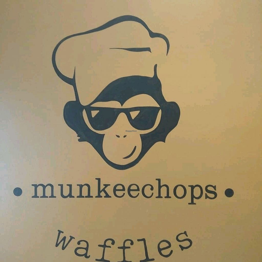 """Photo of Munkeechops Waffles  by <a href=""""/members/profile/Miggi"""">Miggi</a> <br/>Logo on wall <br/> February 20, 2018  - <a href='/contact/abuse/image/112419/361836'>Report</a>"""
