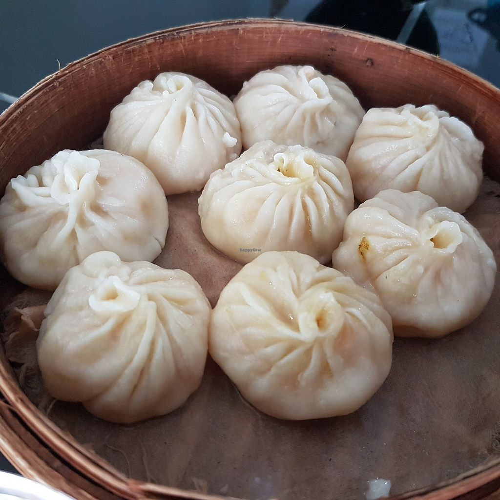 """Photo of Goveria Vegetarian Food & Fruit Ice  by <a href=""""/members/profile/VegYuan"""">VegYuan</a> <br/>Xiao Long Bao - fresh make on the spot in the kitchen <br/> March 15, 2018  - <a href='/contact/abuse/image/112420/370913'>Report</a>"""