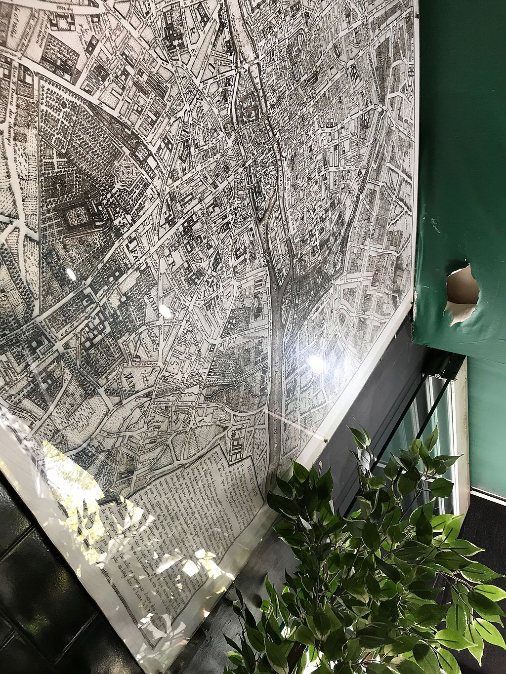 """Photo of Gourmandise de Paris  by <a href=""""/members/profile/kikapetrovic"""">kikapetrovic</a> <br/>Paris map on the wall <br/> March 3, 2018  - <a href='/contact/abuse/image/112428/366007'>Report</a>"""