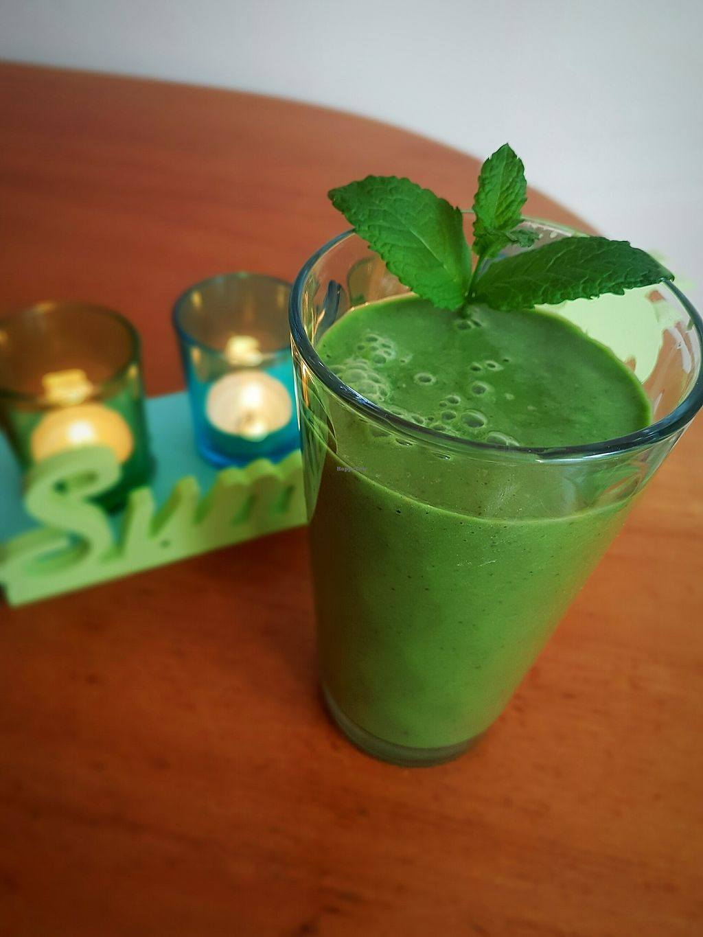 """Photo of Amrutha Lounge   by <a href=""""/members/profile/YouAreWhatYouEat"""">YouAreWhatYouEat</a> <br/>Green smoothie  <br/> February 20, 2018  - <a href='/contact/abuse/image/112580/361523'>Report</a>"""