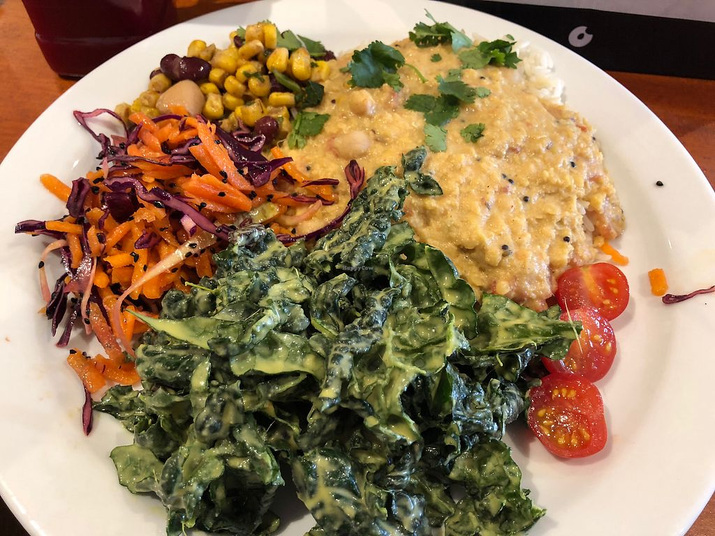 """Photo of Amrutha Lounge   by <a href=""""/members/profile/travellingvegan98"""">travellingvegan98</a> <br/>Delicious mixed plate <br/> February 24, 2018  - <a href='/contact/abuse/image/112580/363185'>Report</a>"""