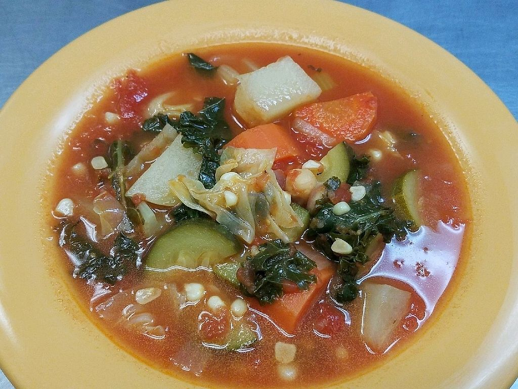"""Photo of Garlik Vegan  by <a href=""""/members/profile/lvnltlv115"""">lvnltlv115</a> <br/>Hearty Vegetable soup <br/> March 18, 2018  - <a href='/contact/abuse/image/112581/372540'>Report</a>"""