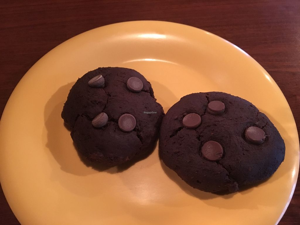 """Photo of Garlik Vegan  by <a href=""""/members/profile/Michael%20Isavegan"""">Michael Isavegan</a> <br/>Chocolate Brownie cookies <br/> April 13, 2018  - <a href='/contact/abuse/image/112581/396682'>Report</a>"""