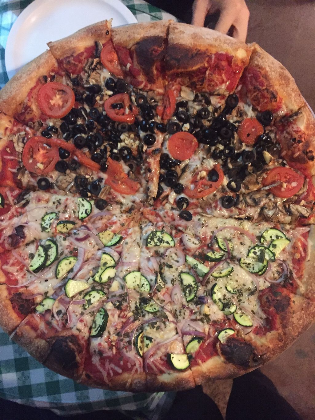 """Photo of Napoli Pizzeria  by <a href=""""/members/profile/TheVeganNarwhal"""">TheVeganNarwhal</a> <br/>Half and half <br/> February 20, 2018  - <a href='/contact/abuse/image/112591/361851'>Report</a>"""