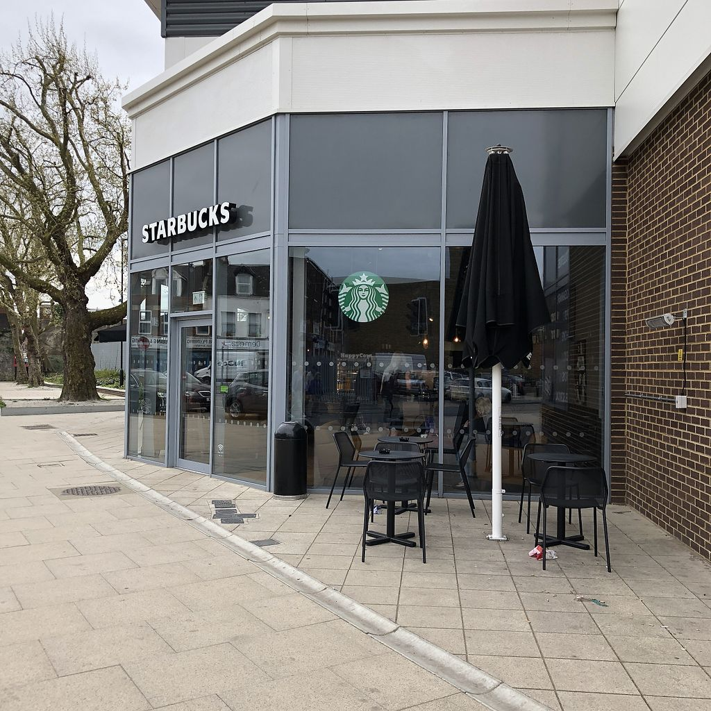 "Photo of Starbucks  by <a href=""/members/profile/TARAMCDONALD"">TARAMCDONALD</a> <br/>Outside seating  <br/> April 24, 2018  - <a href='/contact/abuse/image/112612/390461'>Report</a>"