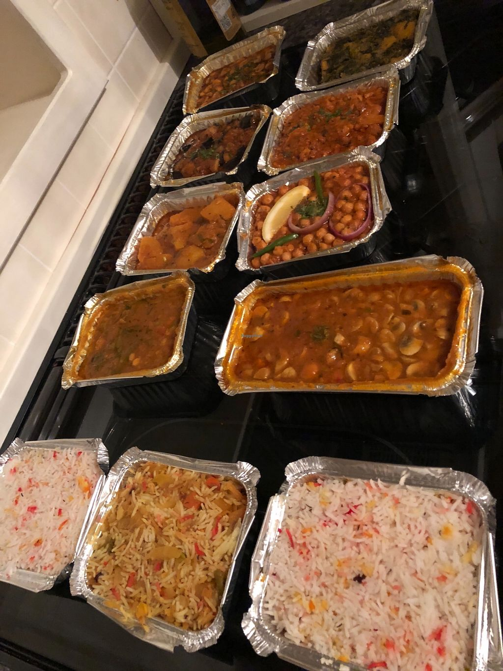 """Photo of Curry Queen  by <a href=""""/members/profile/TARAMCDONALD"""">TARAMCDONALD</a> <br/>Delicious takeaway of vegan dishes  <br/> March 23, 2018  - <a href='/contact/abuse/image/112614/375013'>Report</a>"""