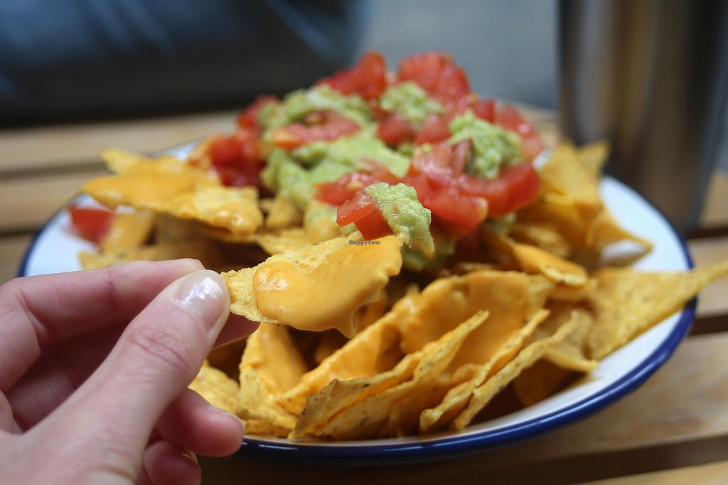 """Photo of NicPic  by <a href=""""/members/profile/kezia"""">kezia</a> <br/>Vegan nachos with incredible home made plant based cheese and Fresh guacamole- not too spicy :) <br/> May 11, 2018  - <a href='/contact/abuse/image/112618/398363'>Report</a>"""