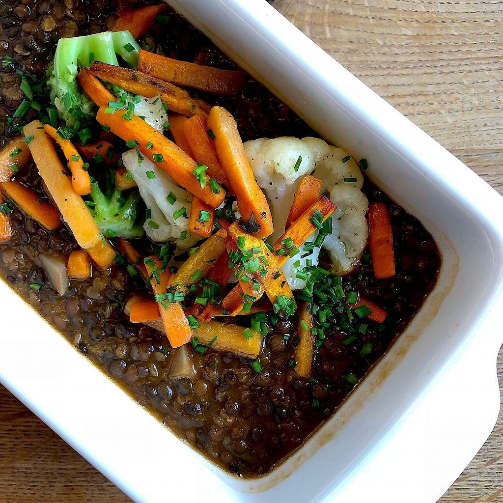 """Photo of Hornli Hutte  by <a href=""""/members/profile/thegreensunflower"""">thegreensunflower</a> <br/>Cooked lentils with vegetables <br/> February 28, 2018  - <a href='/contact/abuse/image/112625/364711'>Report</a>"""