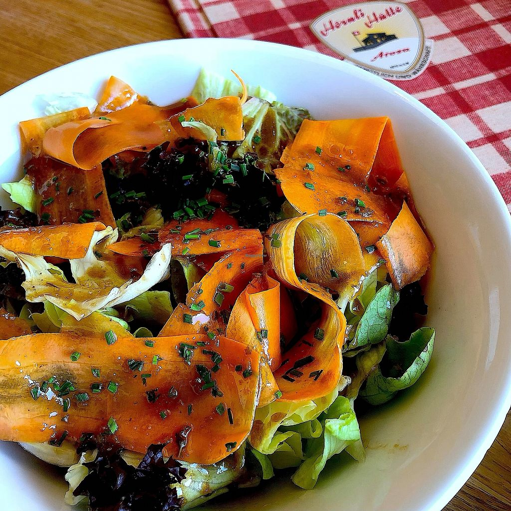 """Photo of Hornli Hutte  by <a href=""""/members/profile/thegreensunflower"""">thegreensunflower</a> <br/>Mixed salad <br/> February 28, 2018  - <a href='/contact/abuse/image/112625/364712'>Report</a>"""