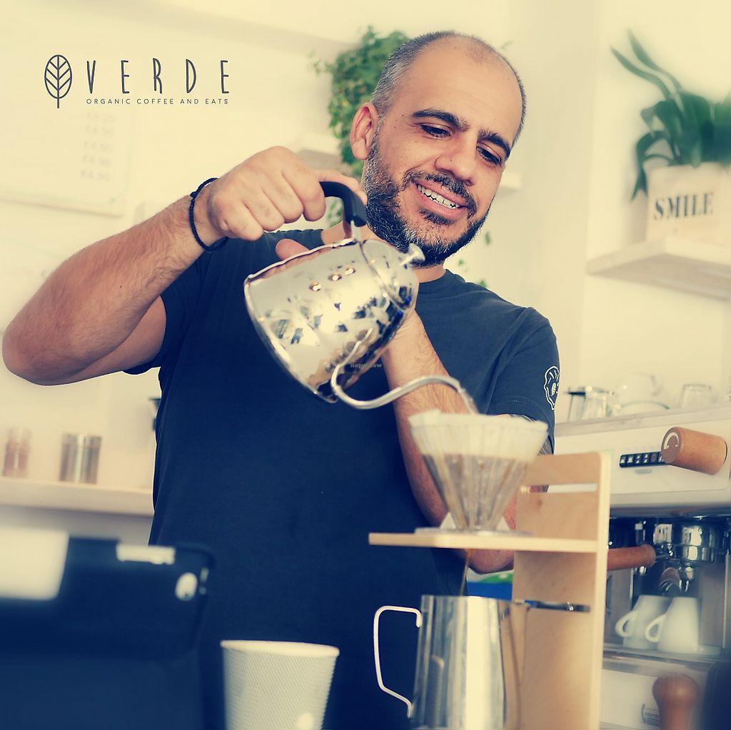 "Photo of Verde Organic Coffee & Eats  by <a href=""/members/profile/NikolasKoutsakos"">NikolasKoutsakos</a> <br/>Freshly brewed  Organic Speciality Coffee every day! <br/> February 28, 2018  - <a href='/contact/abuse/image/112630/364796'>Report</a>"