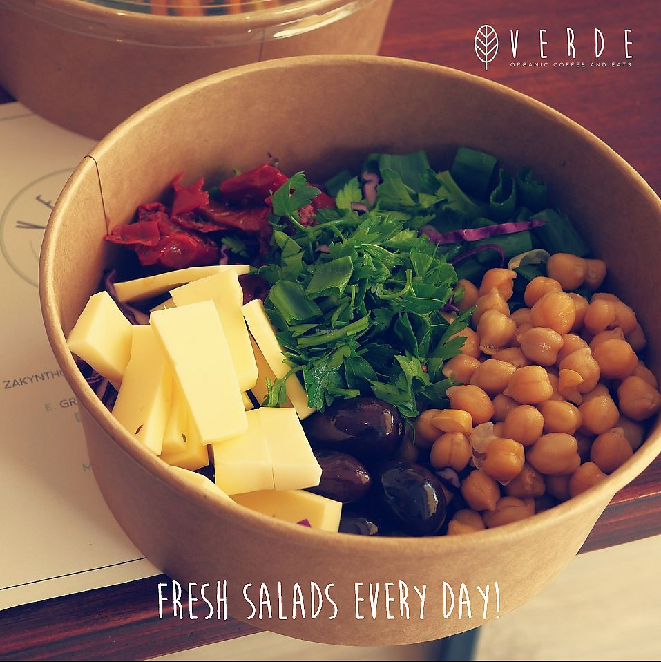 """Photo of Verde Organic Coffee & Eats  by <a href=""""/members/profile/NikolasKoutsakos"""">NikolasKoutsakos</a> <br/>Fresh Salads with Organic Ingredients from Green Shop Larnaca and pure love! <br/> February 28, 2018  - <a href='/contact/abuse/image/112630/364798'>Report</a>"""