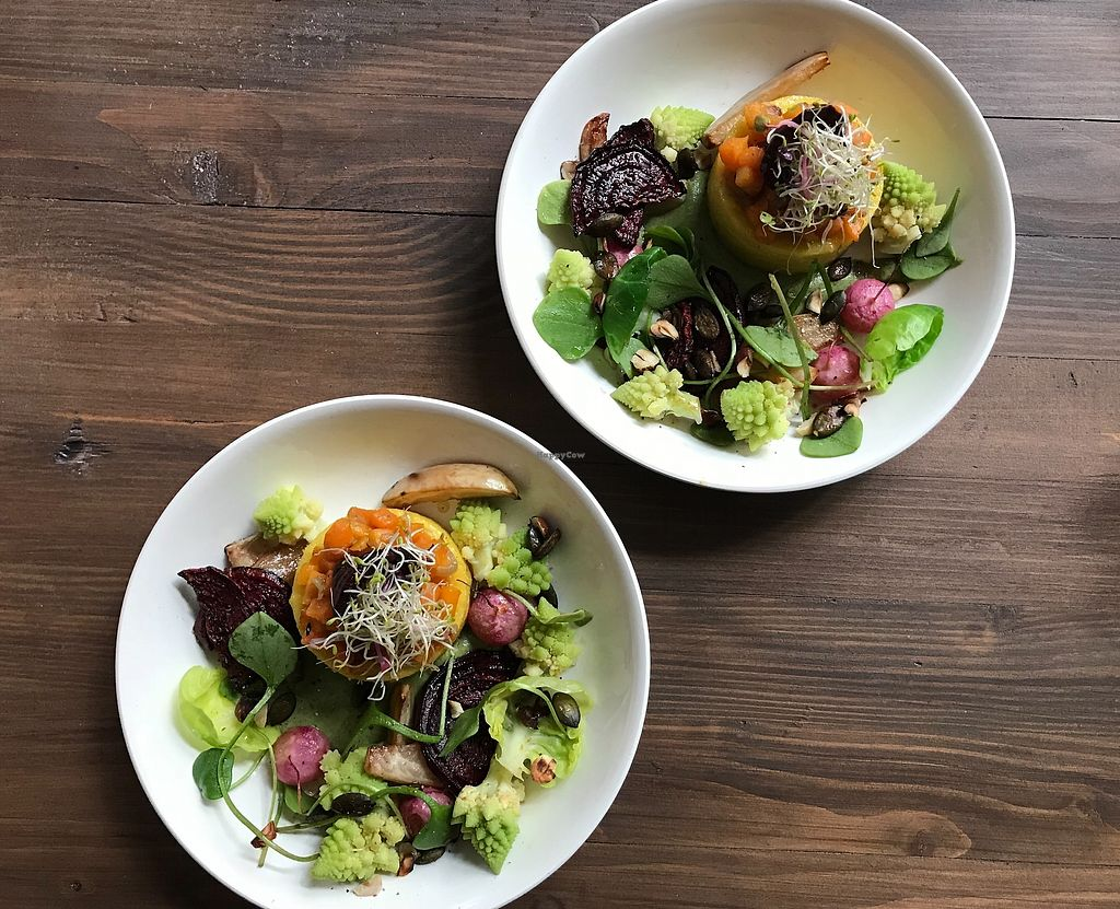 """Photo of Les Mauvaises Herbes  by <a href=""""/members/profile/LesMauvaisesHerbes"""">LesMauvaisesHerbes</a> <br/>Roasted winter vegetables with polenta <br/> February 26, 2018  - <a href='/contact/abuse/image/112716/364252'>Report</a>"""