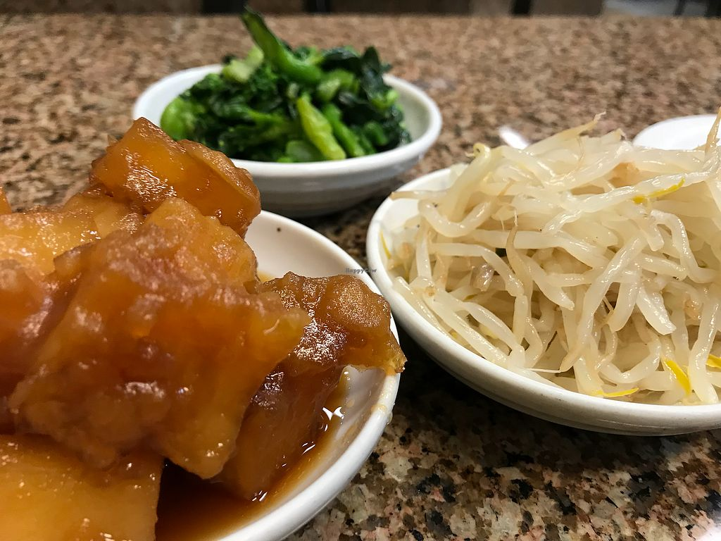 """Photo of Myung Dong Tofu Cabin  by <a href=""""/members/profile/KomoKomo"""">KomoKomo</a> <br/>3 of several vegan side dishes <br/> March 7, 2018  - <a href='/contact/abuse/image/112771/367899'>Report</a>"""