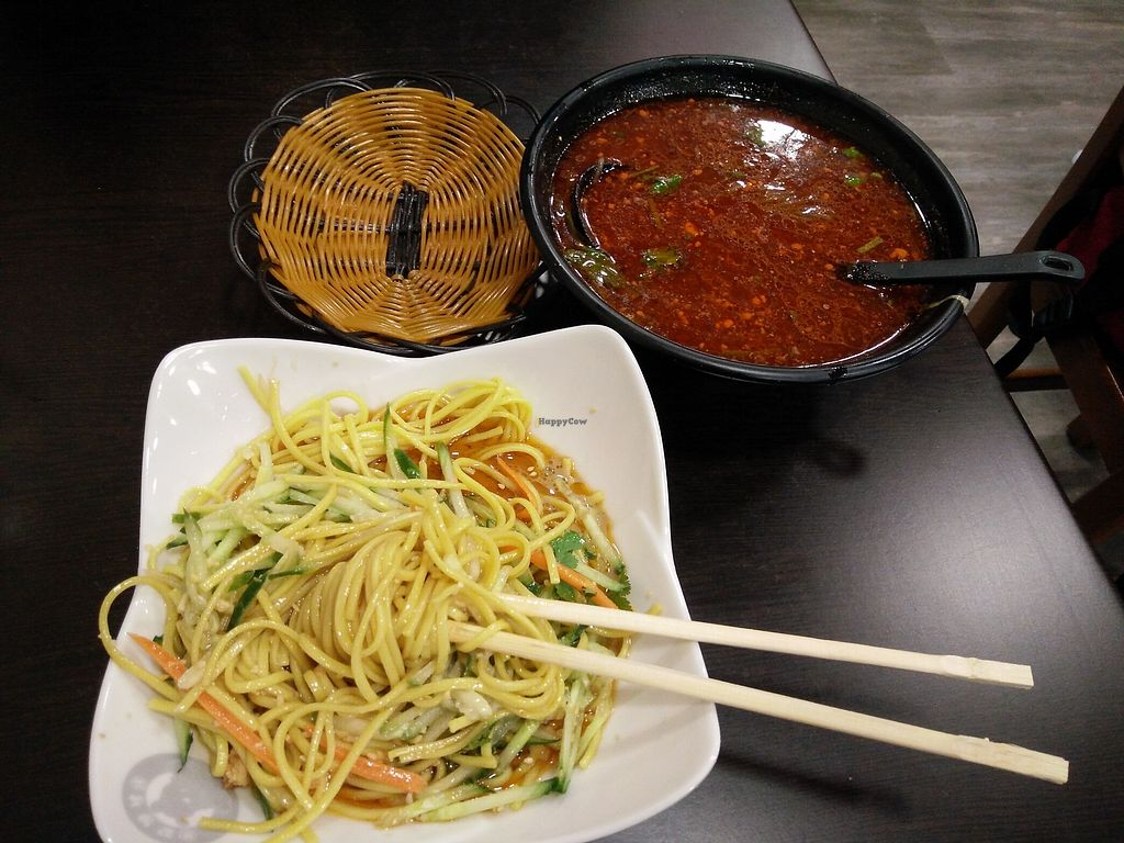 """Photo of Xiongzai  by <a href=""""/members/profile/martinicontomate"""">martinicontomate</a> <br/>noodles with cucumber and peanut sauce <br/> March 17, 2018  - <a href='/contact/abuse/image/112789/372133'>Report</a>"""