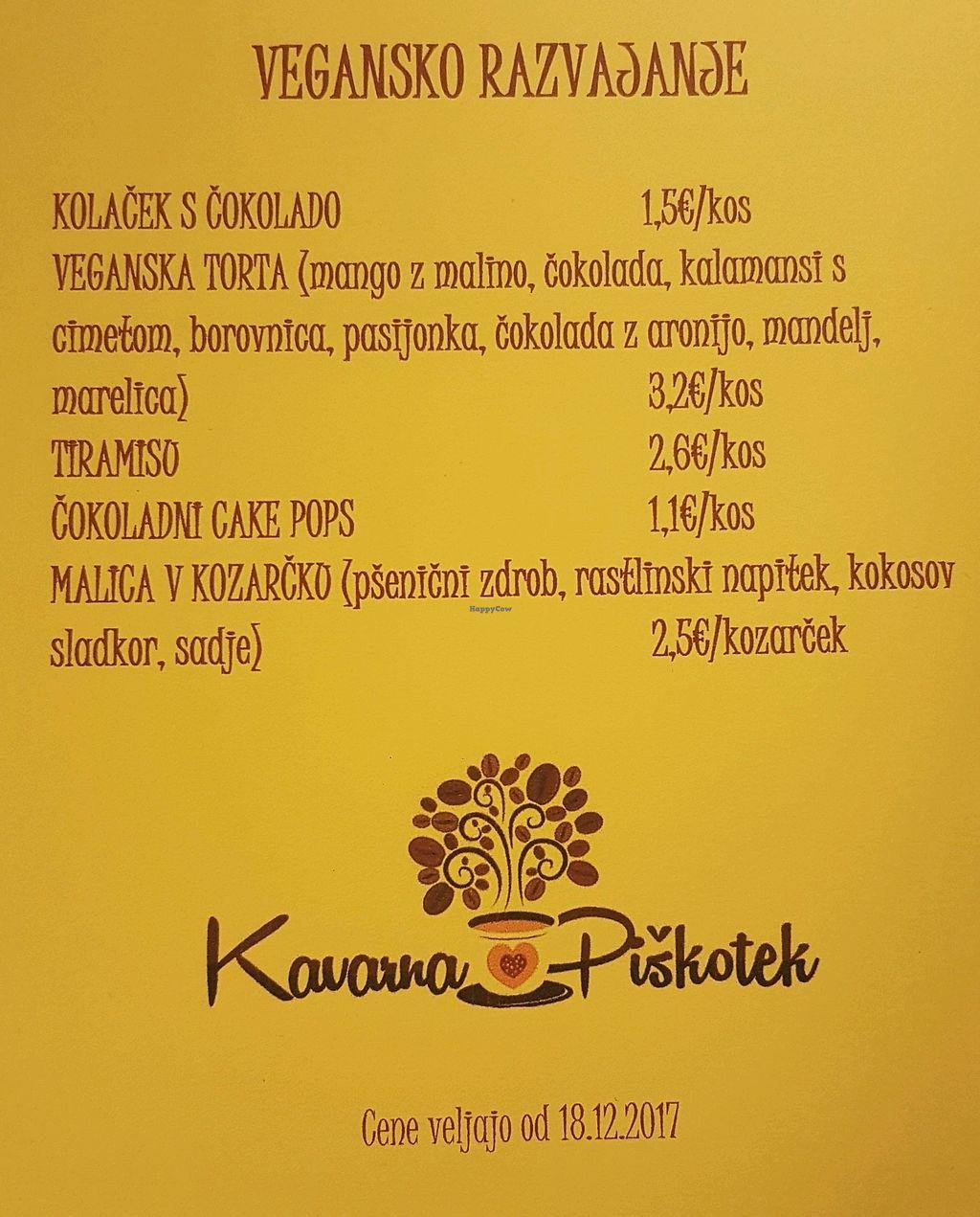 "Photo of Kavarna Piškotek  by <a href=""/members/profile/NenaKo"">NenaKo</a> <br/>menu <br/> March 7, 2018  - <a href='/contact/abuse/image/112792/367823'>Report</a>"